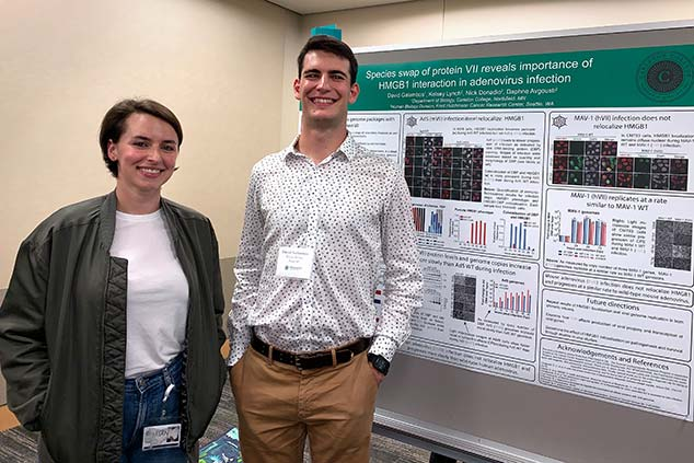 David and Kelsey at the SURP poster session