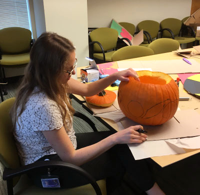 Pumpkin carving Halloween 2018, a Fred Hutch tradition