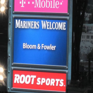 Bloom and Fowler labs get a shout-out on Safeco Field scoreboard